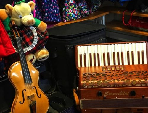 Barry and Erin visited a local primary school to talk about their fiddle and accordion
